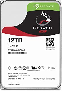 Seagate IronWolf 3.5\ 12TB 内置硬盘 HDD 3年保修 256S 7200rpm 24小时工作 PC NAS 用 RV传感器 ST12000VN0008