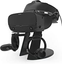 AFAITH VR 支架,VR耳机展示架,带游戏控制器支架,适用于Oculus Rift S/Oculus Quest/Rift 耳机和其他VR 耳机