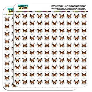 "Monarch 蝴蝶 1.27cm(0.5"")规划者日历剪贴簿手工贴纸 不透明 SCRAP.STICK03.03516"