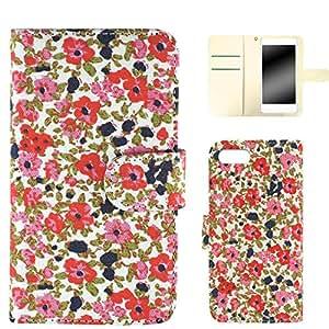 Whitenuts 手机壳 手帐式 全机型适用 滑盖 LL 碎花 黄色 made-4149 粉色 1_ iPhone5