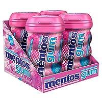 Mentos 曼妥思 無糖咀嚼口香糖, 泡泡新鮮棉花糖, 每瓶45粒 (4件裝)