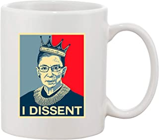 I Dissent Ruth Bader Ginsburg Support DT 咖啡 325ml 白色马克杯