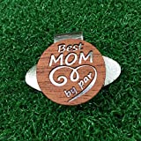 Quintessential Hostess Best Mom By Par 雕刻高尔夫帽夹和球标红桃花心木个性化母亲节礼物