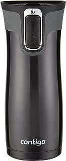 Contigo Autoseal West Loop 康迪克 不銹鋼旅行杯帶易清潔蓋 16盎司 黑色