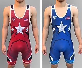 TRI-TITANS American Armor 双面UWW 摔跤汗衫 - Freestyle -Greco Roman -Folkstyle