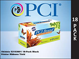 优质兼容 52103601 Okidata 自水尼龙丝带,黑色,每盒 18 个