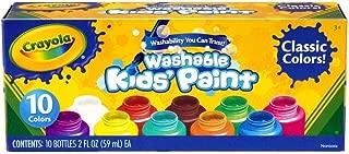 Crayola 安全兒童可洗油漆集-10CT經典顏色