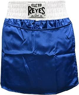 Cleto Reyes 女式缎面拳击裙内裤 - S 码 - 蓝色/白色