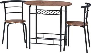 不二贸易 KD餐桌&椅子 ブラウン ブラック テーブル幅81cm 14600