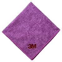 3M 清洁擦拭布 吸水毛巾 擦车布 混色 紫色单条装 40cm*40cm(供应商直送)