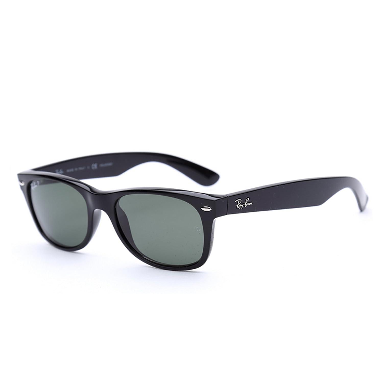Ray-Ban 雷朋 太阳镜男女款经典款太阳眼镜新徒步旅行者系列墨镜 RB2132F-901/58-55 901/58 黑框绿片(偏光) 55mm