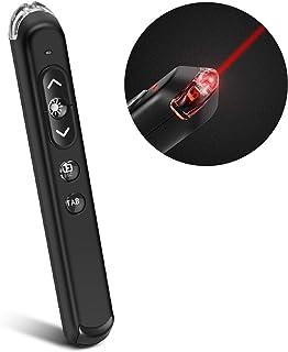 TNP 无线演示遥控器 USB Powerpoint 点击滑梯推进器笔鼠标/红色指针棒,音量控制,迷你 USB 电子狗,空白页,PPT 响片笔/f Windows Mac OS