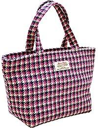 Vagabond Bags 哈里斯花呢手提袋洗漱用品包,32 厘米,粉色