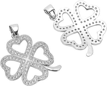 银饰/吊坠串珠 带人造钻石仿古珠宝 #MCAC16-30 5. Love Flower Clove