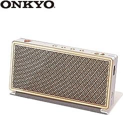 ONKYO安桥levoke23(W)无线蓝牙音箱迷你音响手机音响便携式扬声器(金色纪念版)(亚马逊自营商品,由供应商配送)