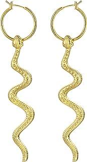 FJ 黄金蛇 20 毫米环状耳环