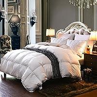 可慕家纺 温雅系列 全棉面料70%白鸭绒填充冬被 (200*230cm填充1800克, 纯白色)