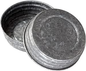 Galvanized 复古复制盖子适用于梅森、球、罐装,4 包 镀锌 Regular Mouth