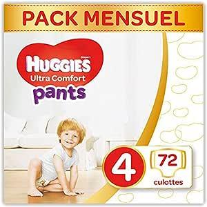 HUGGIES 尿布超舒适长裤尺码4月 Box, 1包装 (1 x 72件)