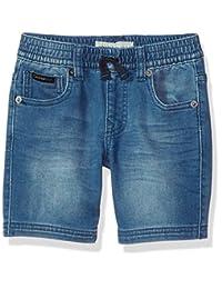 Calvin Klein 男童针织牛仔短裤