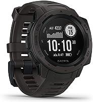 Garmin Instinct,坚固的户外手表带 GPS,具有 GLONASS 和伽利略,心率监控和 3 轴指南针010-02064-00  1.27 inches 石墨色