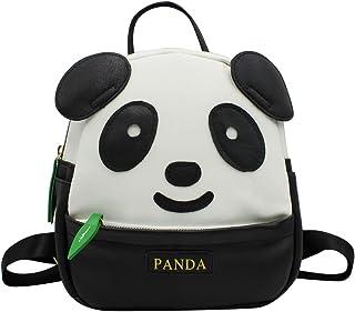 KINGSEVEN 女式女孩可爱熊猫图案背包钱包 PU 皮革旅行包小号休闲肩背包