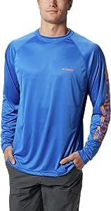 Columbia Sportswear 男式接线服长袖衬衫(加长) 2X/Tall 蓝色 1388263-491-2X/Tall