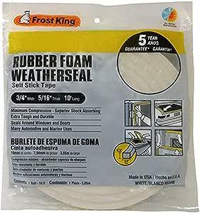 Frost King R534WH Sponge Rubber Foam Tape 5/16-Inch, White