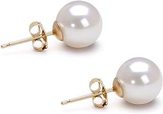Orien Jewelry AAAA 14K金镶嵌女性的耳环,Akoya养珠
