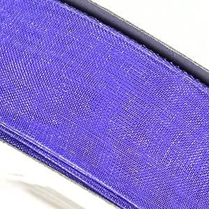 50 码透明硬纱卷 24 种颜色 - 选择尺寸:1.91 厘米、1.27 厘米、1.59 厘米、2.22 厘米、2.22 厘米、2.79 厘米和 3.81 厘米 淡紫色 1 英寸 RIBORG
