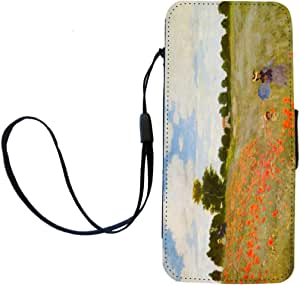 Rikki Knight Claude Monet Art Poppies Flip Wallet iPhoneCase with Magnetic Flap for iPhone 5/5s - Poppies