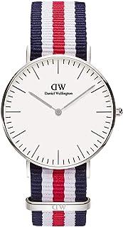 Daniel Wellington 丹尼尔惠灵顿 女式 瑞典品牌 Classic系列 银色表圈表扣 Canterbury Lady石英手表 女士腕表 DW00100051(原型号0606DW)