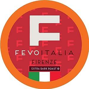 Fevo Italia Napoli 咖啡壶,适用于 Keurig K-Cup 咖啡机 Firenze 40份