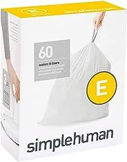 Simplehuman Code E 定制垃圾筒内袋 20升/ 5.2加仑 60计数