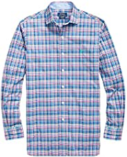 Polo Ralph Lauren 保羅拉夫勞倫男式高大格子彈力棉長袖襯衫