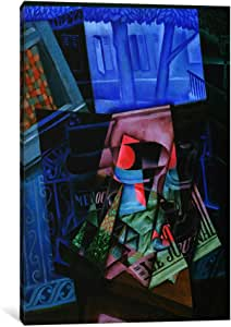 "iCanvasART 1 Piece Still Life before an Open Window, Place Ravignan Canvas Print by Juan Gris, 40"" x 26""/1.5"" Depth"