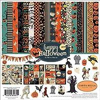 Carta Bella Paper Company CBHAL104016 Happy Halloween 系列纸质,橙色,黑色,蓝色,*蓝