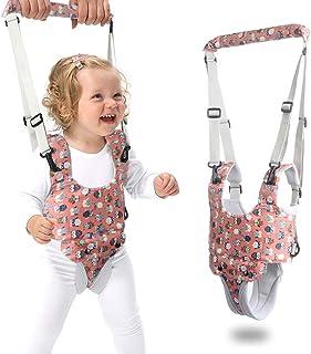 婴儿行走胸背带,宝宝坐立学习助手,带裆部可调节*拉伸,双用途猫头鹰印花,适合幼儿、婴幼儿和儿童活动 红色
