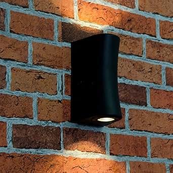 高质量LED墙壁户外灯2x 3W LED 230V / IP54 防溅/设计壁灯适用于室外花园照明