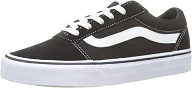 VANS 范斯 Ward Suede/帆布, 女士低帮运动鞋, Black ((Suede/Canvas) Black/White Iju),2.5 UK