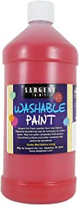 Sargent Art 22-4520 32-Ounce Washable Tempera, Red