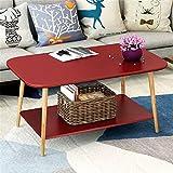 现代简约边几迷你小茶几小方桌沙发边桌北欧小桌子卧室角几床头桌 (红色(100 * 48cm))