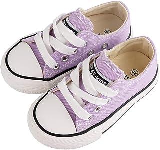 幼儿小童男孩女孩经典可调节系带帆布运动鞋