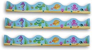 课堂装饰海洋生物墙边 - 一套14个