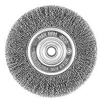 """EAB Tool 2160448 6"""" 碳钢粗线轮(碳钢)工业线刷 - 可回收,"""