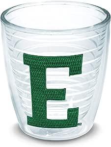 Tervis 1068370 Eastern Michigan University Emblem Individual Tumbler, 12 oz, Clear