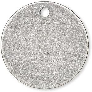 20 片 15mm 圆形圆圈空白硬币滴印坠饰镀铜金属 复古镀银 0752993875294