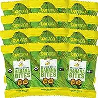 Barnana 原味耐嚼香蕉片-39克(12包)- 美味巴纳纳富含钾香蕉零食 - 午餐晚餐体育运动徒步旅行零食小吃- 共30粒,原始,素食。