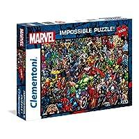 Clementoni 39411 Clementoni-39411-Impossible拼圖-Marvel-1000塊,多色