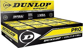 Dunlop Squash Sport 专业耐用高级俱乐部比赛球盒 12 个